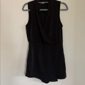 Black Urban Outfitters Romper with Skirt Detail